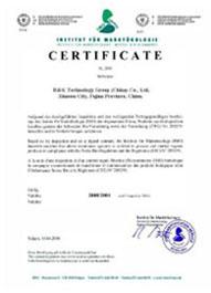Certificat organic