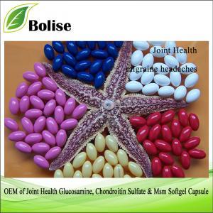 OEM nan Glukosamin Joint Sante, Chondroitin Sulfat & Msm Softgel kapsil